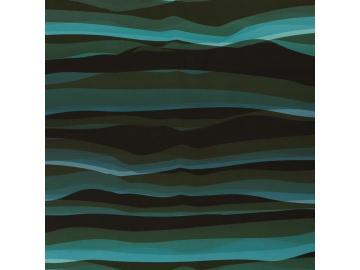 Softshell Wavy Stripes petrol-schwarz