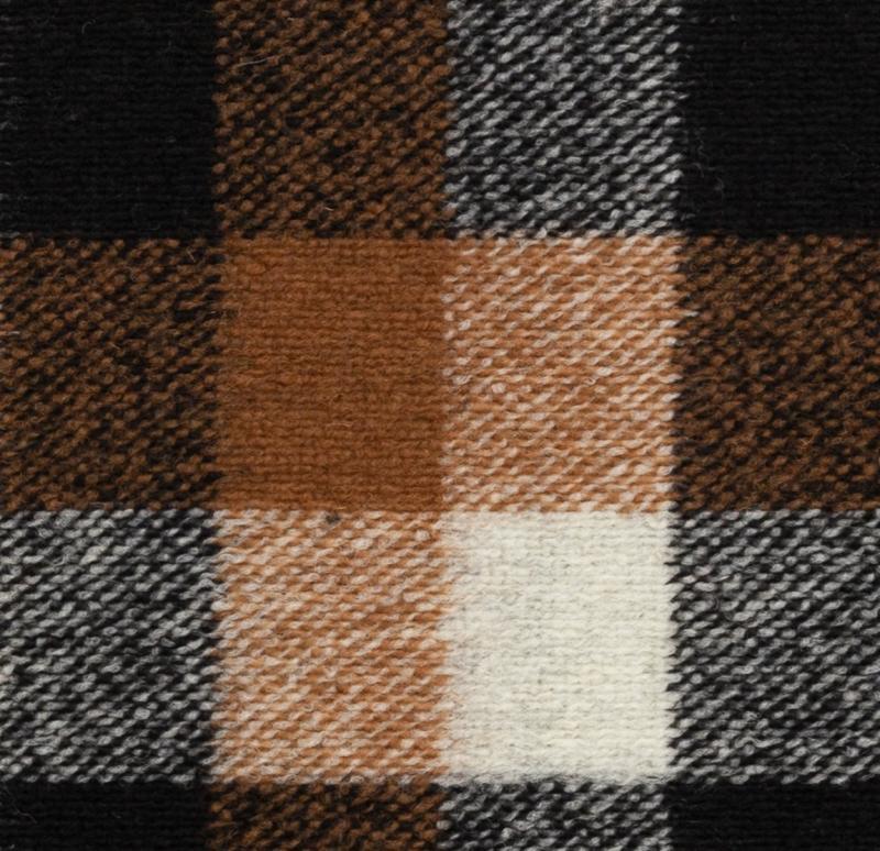 Wollstoff Frederico Mantelstoff,kariert, braun-schwarz beige