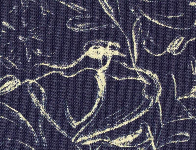 Jersey Jills Grandmas, Blumenranke dunkelblau