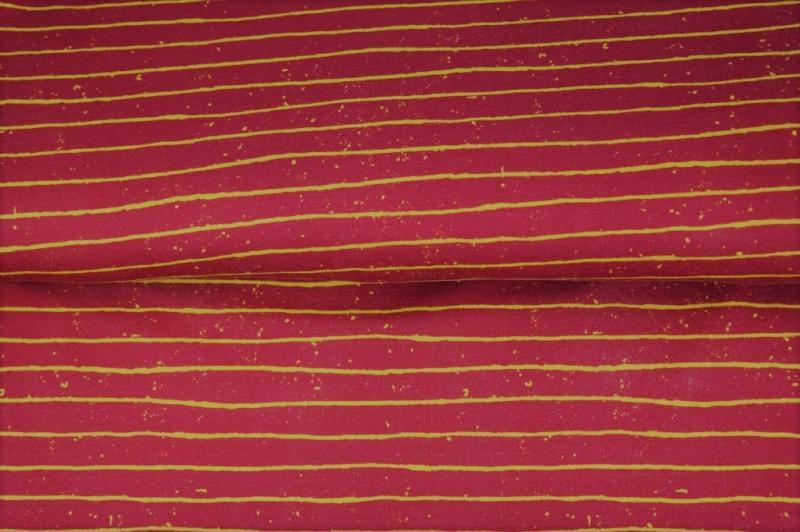 Jersey BW, rot, gelb gestreift