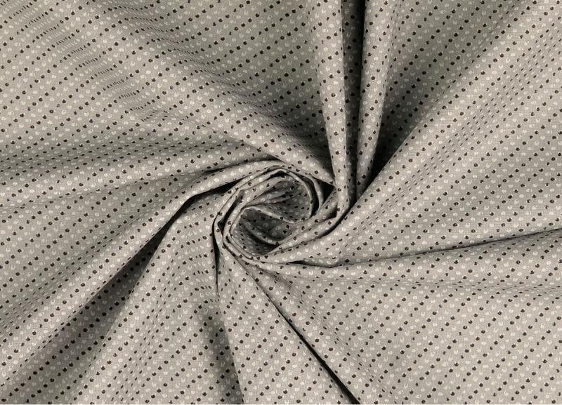 Baumwoll Druck grau Punkte