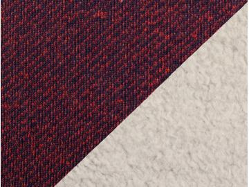 Sweat Piet, BW mit Fleeceabseite dunkelblau/rot