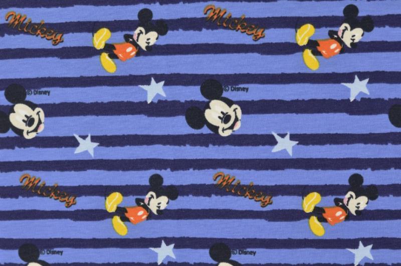 Jersey BW Mickey Maus blau gestreift
