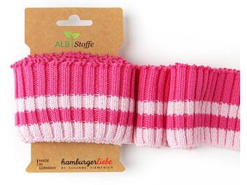 CUFF ME Cozy Stripes pink rosa