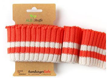 CUFF ME Cozy Stripes orange creme
