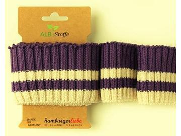 CUFF ME Cozy Stripes lila weiß