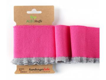 CUFF ME Frill Bündchen pink-silber