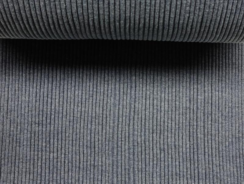 Hipster Bündchen graublau meliert