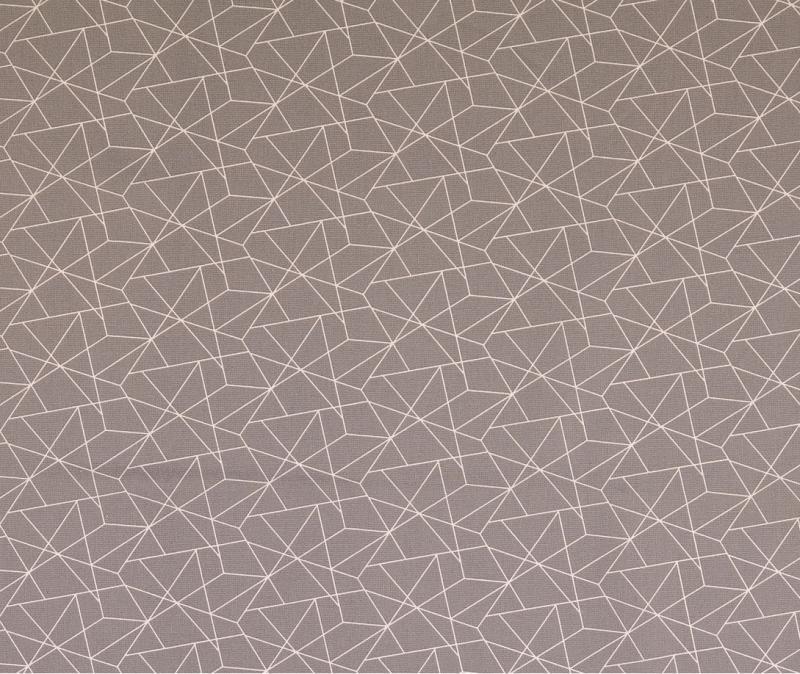 Baumwoll Druck grau grafisch