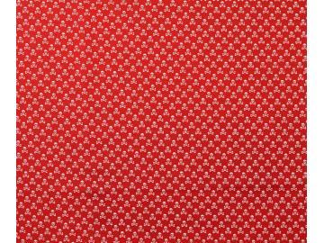 Baumwollstoff, Totenkopf rot