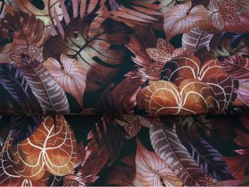 Jersey BW Blätter weinrot
