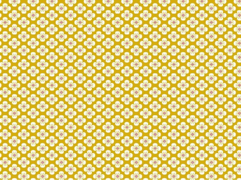 Popelinstoff BW, Blüte gelb