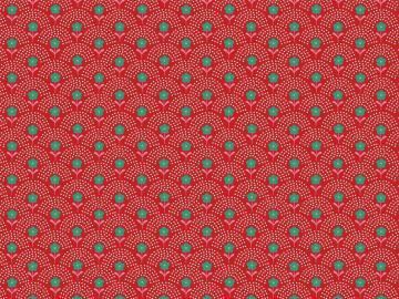 Popelinstoff BW, Blumewiese rot