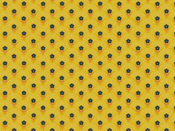 Popelinstoff BW, Blumewiese gelb