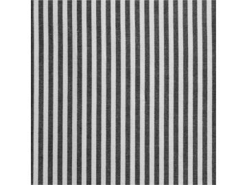 0,40m  Baumwollstoff, Streifen Caravelle schwarz 1mm