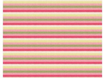 Streifen Interlook BW  rose-pink-grün-beige