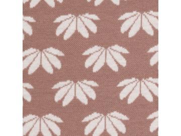 Jacquard, Winter Flower Baumwoll Gemisch, sand-weiß