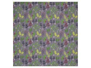 Rupert Baumwolle Webware grau-rot-grün
