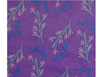 Velvet, Druck, Blütenranke violett