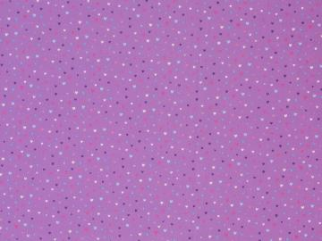 Baumwollstoff Kim Herzen rlila-pink-blau