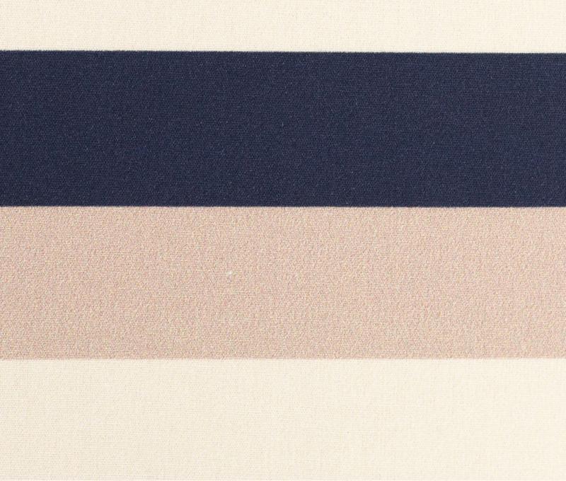 Baumwollstoff Kim Streifen blau-sand-creme