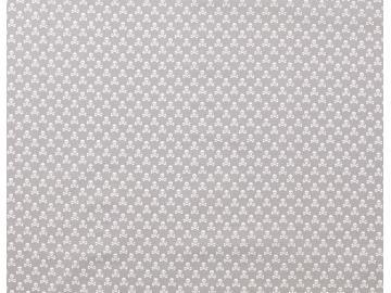 Baumwollstoff, Totenkopf klein grau