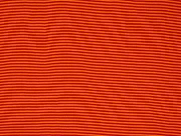 Bündchen BW Andy orange/rot  glatt gestreift
