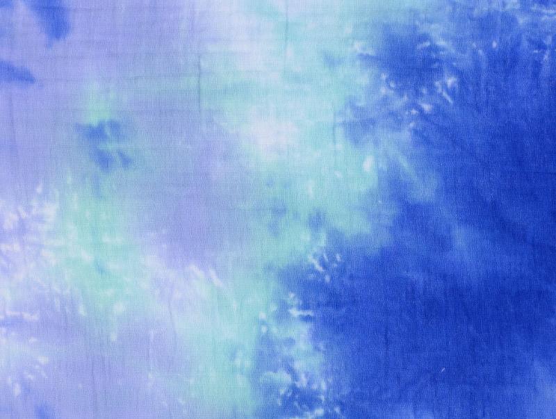 Double Gauze Batik kobaltblau-türkis