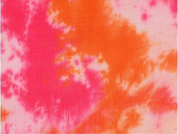 Double Gauze Batik pink-orange
