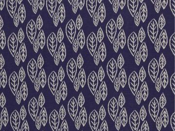 Jacquard, Jill Leaves, Blätter  dunkelblau
