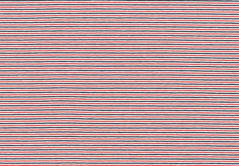 Jersey BW, Gala Streifen blau-weiß-rot