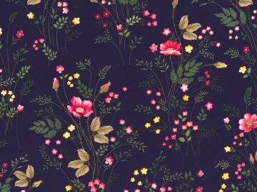 Jersey BW, Jonne, Blumenranke dunkelblau