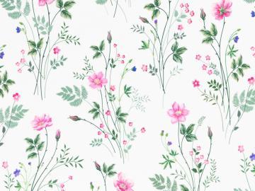 Jersey BW, Jonne, Blumenranke weiß