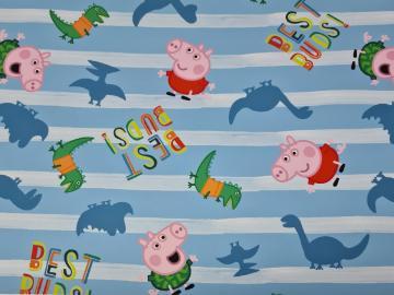 Jersey, BW Peppa Pig (Wutz) mit Dinosaurier hellblau