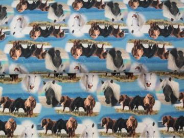 Jersey, BW Pferdeherde blau, digitaler Druck