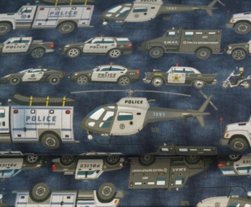 Jersey, BW Polizeitransporter blau, digitaler Druck