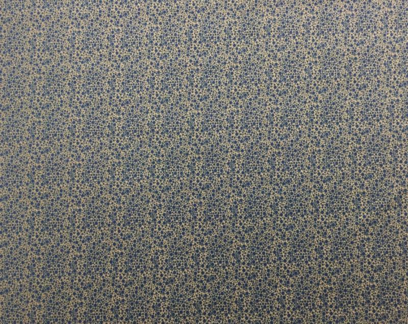 Jersey BW Tupfen beige-blau