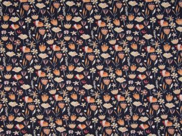 Jersey BW, Blumenwiese  dunkelblau