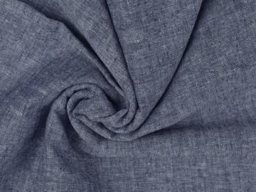 Leinen-Baumwolle  uni  meliert blau