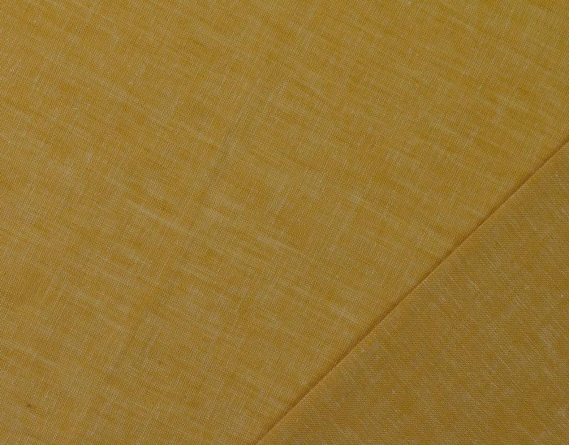 Leinen-Baumwolle  uni  meliert senfgelb
