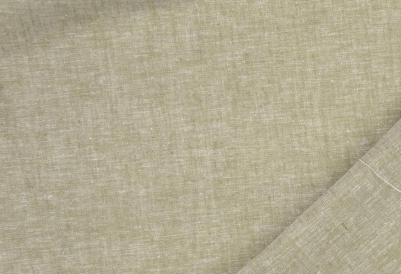 Leinen-Baumwolle uni  grün