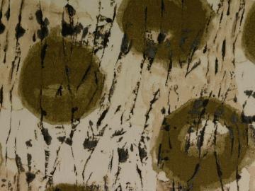 Leinen-Viskose  grafisch , oliv-natur