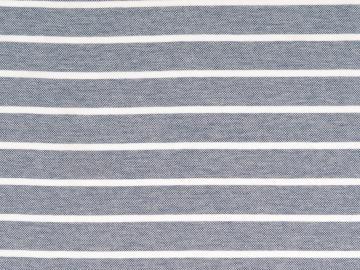 Piquue, Baumwolle  gestreift blau-weiß