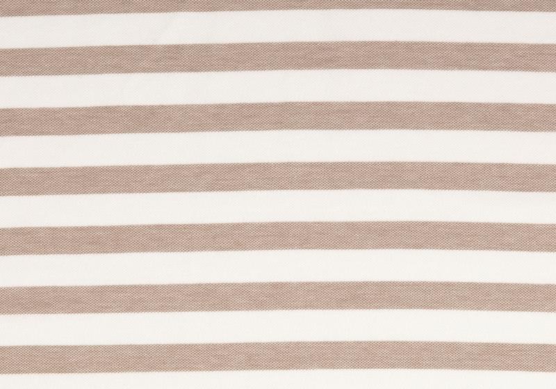 Piquue, Baumwolle  gestreift weiß-beige