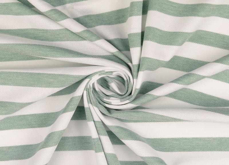 Piquue, Baumwolle  gestreift weiß-grün