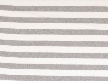Piquue, Baumwolle  gestreift weiß-schwarz