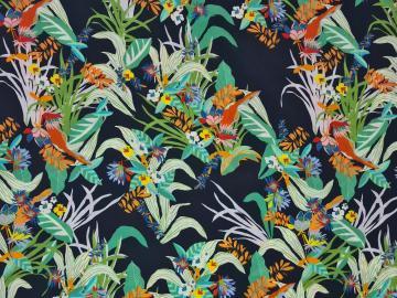 Tencel Floral dunkelblau-multicolour