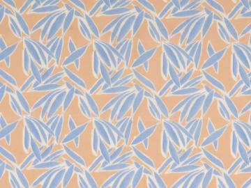 Viskose Druck Blätter sand-hellblau