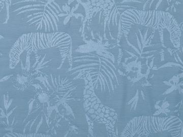 Viskose Jaquard, Afrika graublau