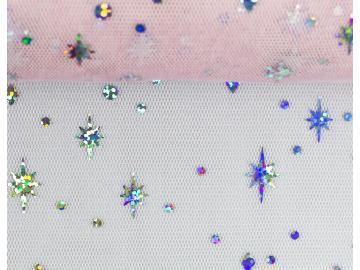 Wabentüll Elsa rosa glitzer